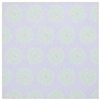 Yin Yang Fabric - White, Pale Blue, Green