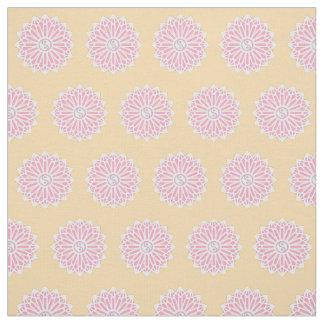 Yin Yang Fabric - White, Salmon, Orange, Pink