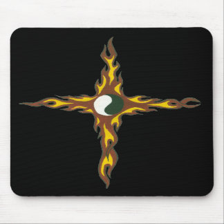 Yin Yang Fire Cross Mouse Pads