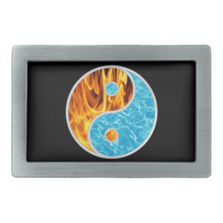YIN-YANG FIRE WATER RECTANGULAR BELT BUCKLES