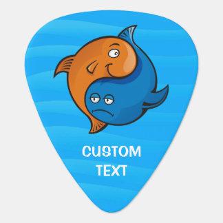 Yin Yang Fish Cartoon Plectrum