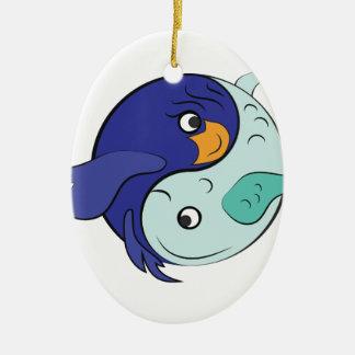 Yin Yang Fish Ceramic Ornament