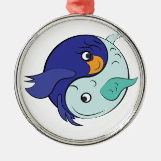Yin Yang Fish Metal Ornament