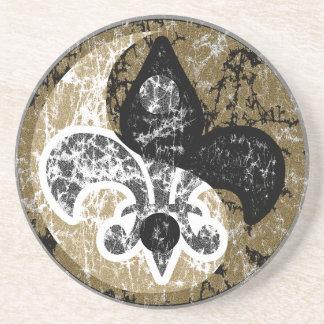 Yin Yang Fleur De Lis Coaster