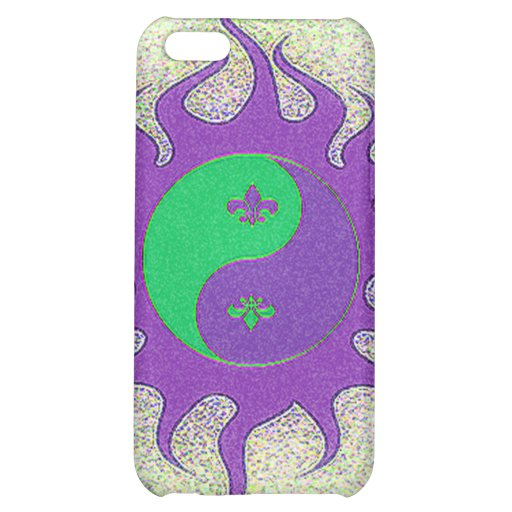 Yin Yang Fleur De Lis iPhone 5C Case