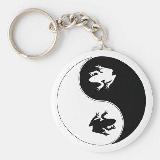 Yin Yang Frog Key Ring