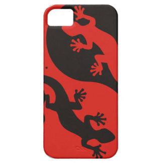 YIN & YANG Geckos black red + your background idea iPhone 5 Case