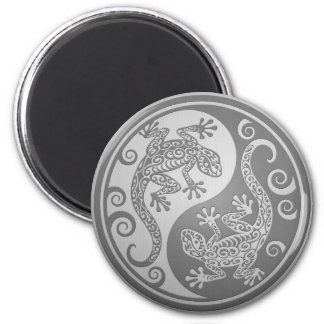Yin Yang Geckos, Stainless Steel Effect Magnet