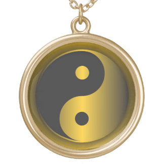 Yin-Yang Gold Gold Plated Necklace