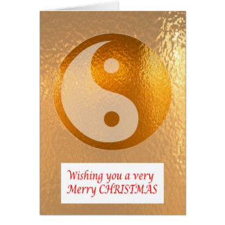 YIN YANG GOLD :   Merry Christmas Happy NewYear Card