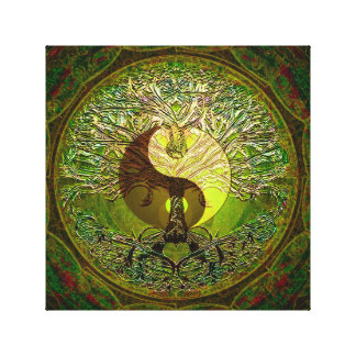 Yin Yang Green Canvas Print
