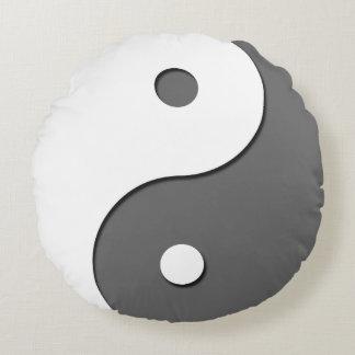Yin Yang - grey 1 Round Cushion