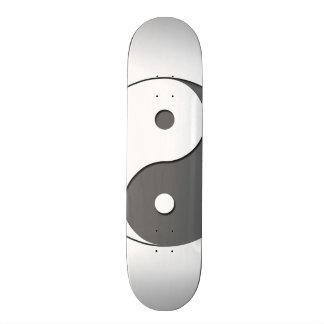 Yin Yang - grey 1 Skate Board