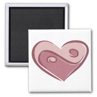 yin yang heart square magnet