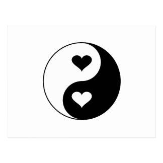 Yin Yang Hearts Postcard