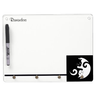 Yin Yang Kitties Dry Erase Board With Key Ring Holder