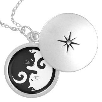 Yin Yang Kitties Locket Necklace