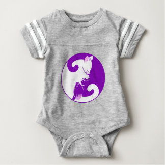 Yin Yang Kitty Baby Bodysuit
