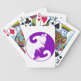Yin Yang Kitty Bicycle Playing Cards