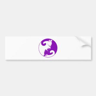 Yin Yang Kitty Bumper Sticker