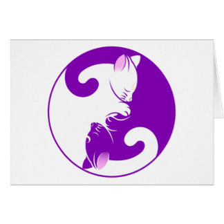 Yin Yang Kitty Card
