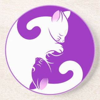 Yin Yang Kitty Coaster