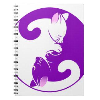 Yin Yang Kitty Notebook
