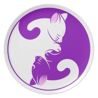 Yin Yang Kitty Plate