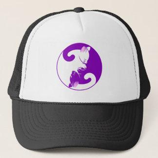 Yin Yang Kitty Trucker Hat