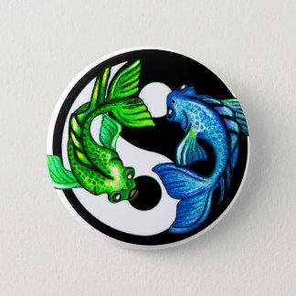 Yin-Yang Koi Design 6 Cm Round Badge