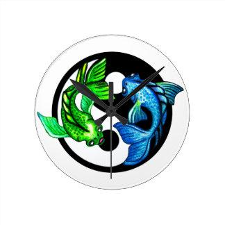 Yin-Yang Koi Design Clock