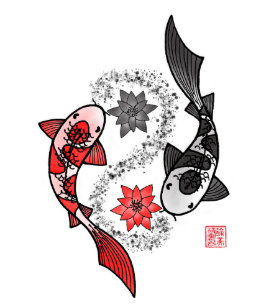 Yin Yang Koi Fish Art Wall Decor Zazzle Com Au
