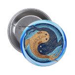 Yin Yang Koi Fish Mandala Buttons