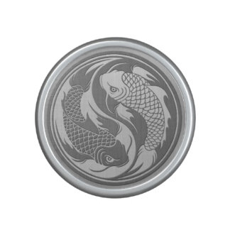 Yin Yang Koi Fish with Stainless Steel Effect Bluetooth Speaker