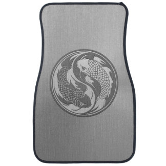 Yin Yang Koi Fish with Stainless Steel Effect Car Mat