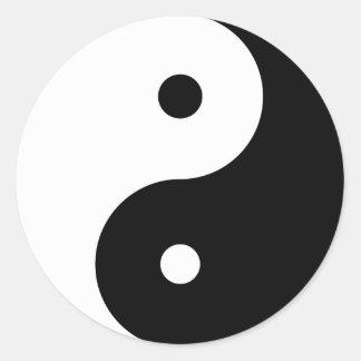Yin Yang large Classic Round Sticker