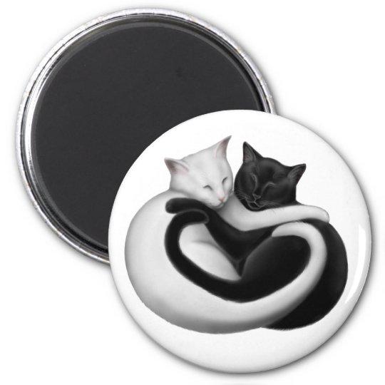 Yin Yang Love Cats Magnet