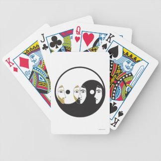 Yin Yang Man Woman Bicycle Playing Cards