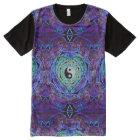 Yin Yang Mandala Heart All-Over Print T-Shirt