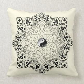 Yin Yang Mandala Pillow
