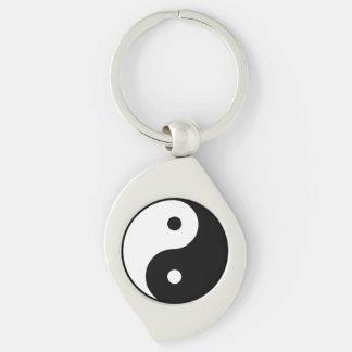 Yin Yang Metal Keychain