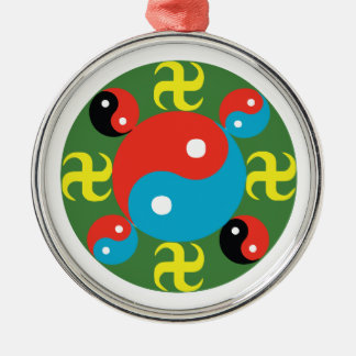 Yin Yang Metal Ornament