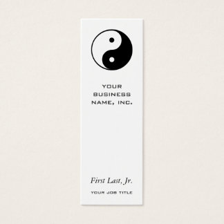 Yin Yang Mini Business Card