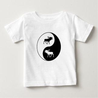 Yin Yang Moose Baby T-Shirt