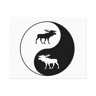 Yin Yang Moose Canvas Print