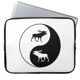 Yin Yang Moose Laptop Sleeve