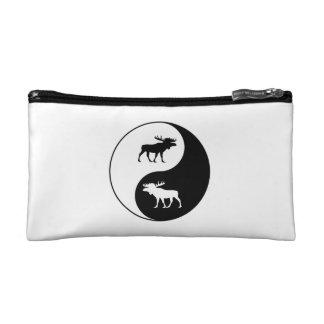 Yin Yang Moose Makeup Bag