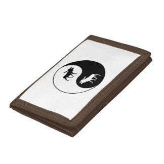 Yin Yang Moose Trifold Wallet