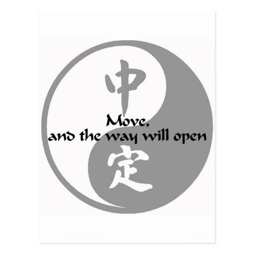 Yin Yang - Move Post Card
