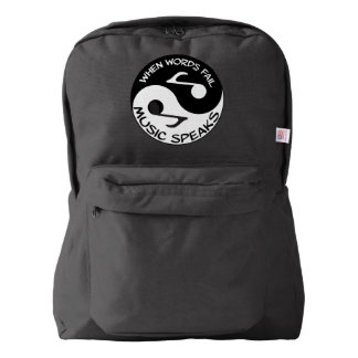 Yin yang music backpack